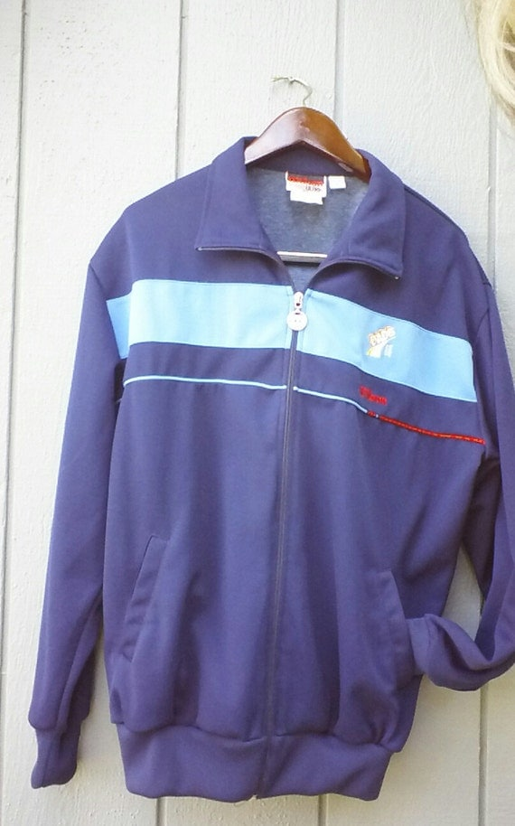 Vintage Wilson Running Jacket Size XL Blue Made for Dads Rootbeer Great