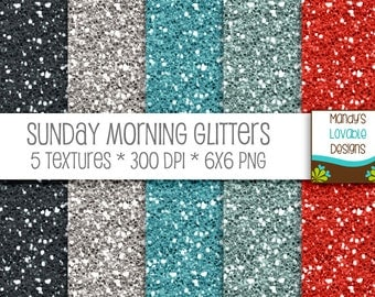 SALE - High Resolution Glitter Textures - Digital Scrapbooking Cards Invitations - Printable - Sunday Morning - 300 dpi - CU OK
