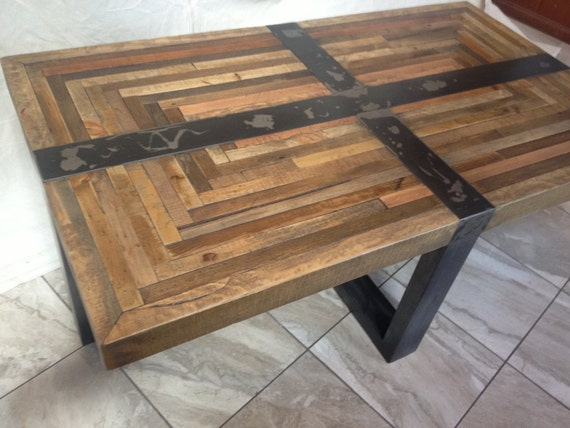 Industrial Rustic Coffee Table By Metaltreefurniture On Etsy