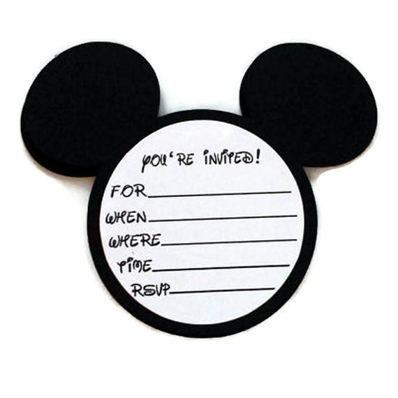 Custom Made Minnie Mouse Invitations with good invitations layout