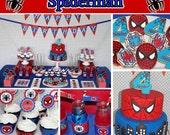 SALE Sale Spiderman Printable Deluxe Birthday Package DIY birthday party package amazing spiderman