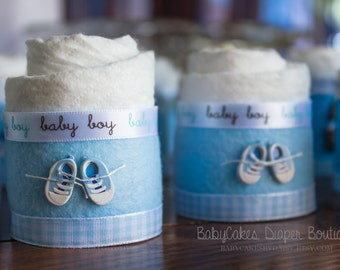 It's a Boy | Mini Diaper Cakes | Baby Shower Gift | Diaper Cake | Baby Boy Baby Shower | Diaper Cupcakes