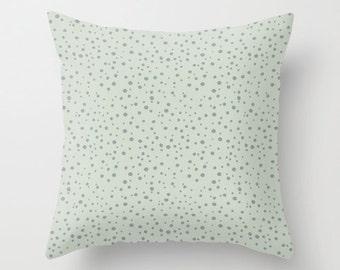 Mint Polka Dot Pillow WITH Insert, Mint Pillow Cover, Polkadot Throw Pillow Case, Polka Dot Decor, Mint Green Pillows, Polka Dot Bedding