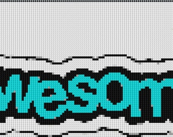 Awesome Banner Cross Stitch Pattern