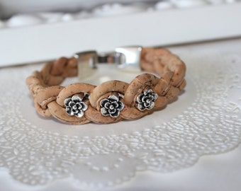 Bracelet Cork - Natural and Brown