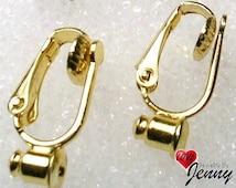 Clip On Earring Converters for Post Earrings- For Unpierced Ears, Sold in Pair
