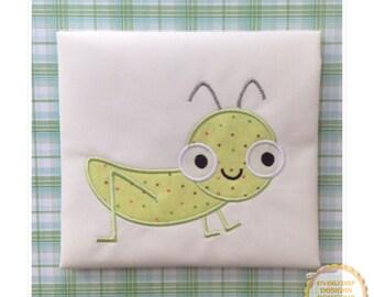 Grasshopper Machine Embroidery Applique Design