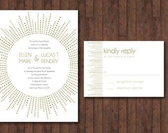Radial Burst Wedding Invitation - DIGITAL