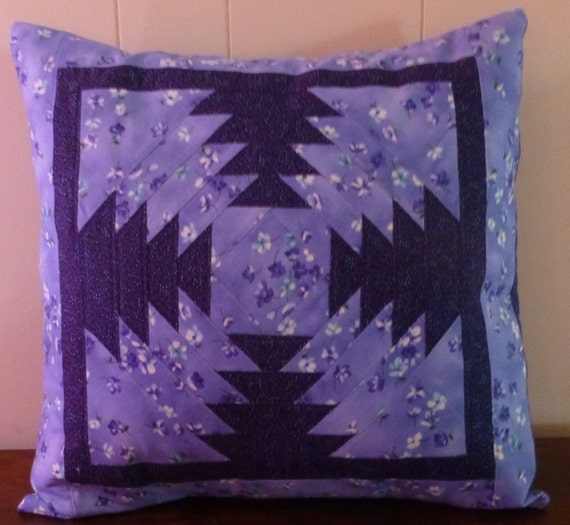 Quilted Decorative Pillow Covers : Quilted Decorative Patchwork Pillow CoverHome DecorCotton