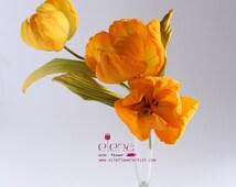 Tutorial silk flower - How to make silk tulip /PDF ebook/