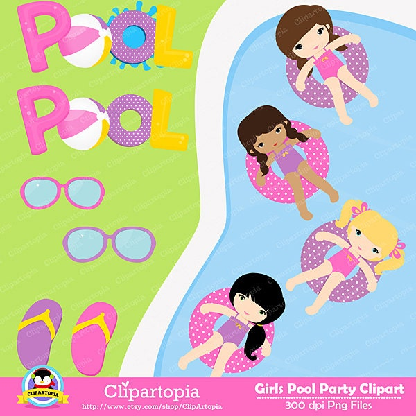 50 off sale girls pool party clipart pool party clipart for Free clipart swimming pool party