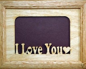 I Love You Picture Frame 5x7
