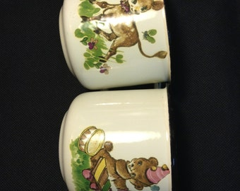 Mug (cup) enamel, set 2 pcs. Russia, USSR