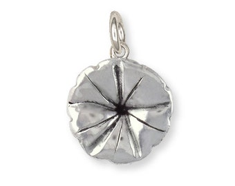 Sterling Silver Morning Glory Flower Charm Jewelry MGL-C