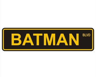"BATMAN BLVD Street Signs 6"" x 24"" Aluminum"