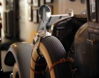 Photo Print - Classic Car, Antique Auto, Rearview Mirror, Vintage Colors