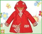 Girls Coat PATTERN + Bonus Mother-Daughter Apron Pattern, Hooded Coat Sewing Pattern Children, 18m-10y, Baby, Toddler Clothing pdf Patterns