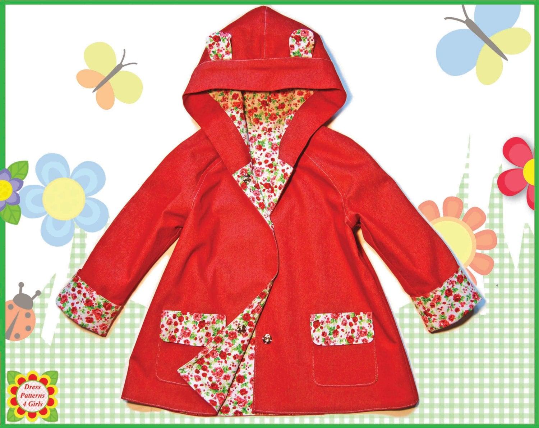 Girls Coat PATTERN Bonus Mother Daughter Apron Pattern