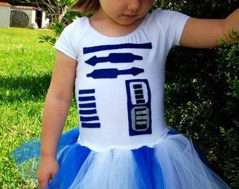 R2D2  inspired tutu dress costume