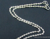 """RESERVED FOR ABBY-  28"""" handmade silver plated chain"""