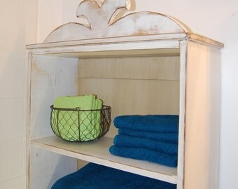 Two Shelf Bathroom Cupboard with Ornament Top (PDF Instructions)