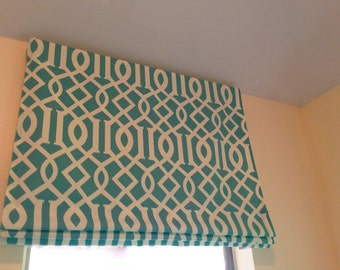 blackout lining only for faux fake flat roman shades valance - Blackout Roman Shades