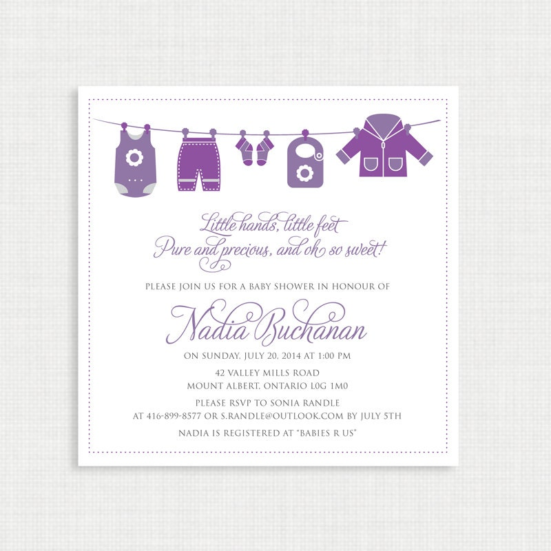 Printable Baby Shower Invitation- Shower Invitation - Printable Baby ...