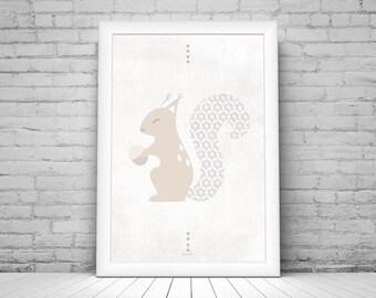 Poster {squirrel} - 20 x 30 cm