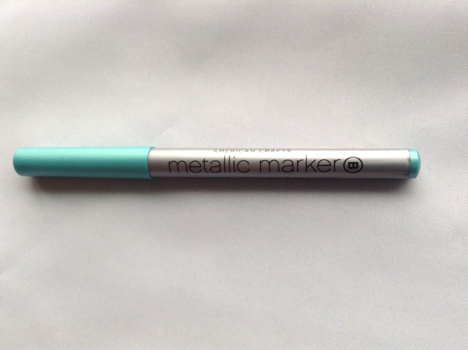 New american crafts scrapbooking premium metallic marker teal for American crafts metallic marker