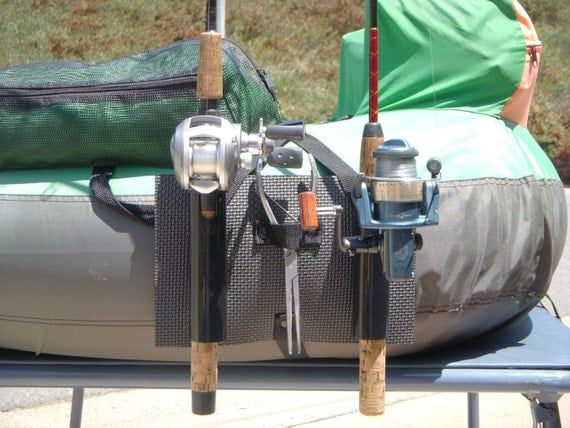 Fishing rod holder for float tube or pontoon for Fishing rod tubes