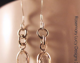 the perfect bridal dangle earrings silver swarovski Canadian designer Rosemary Lucy Designs  jewelry women