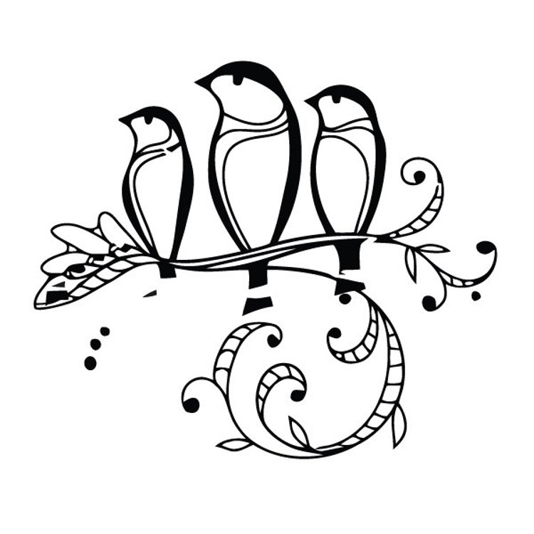 Three little birds temporary tattoo set of 2 by tattify on for Three little birds tattoo