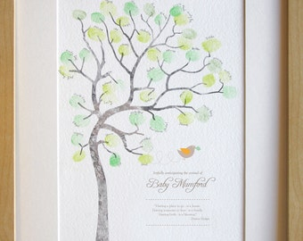 Baby shower, fingerprint tree, guest book alternative, gender reveal, diy baby room decor, baby shower game, new baby expecting A4 PRINT