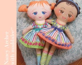 Jessa Cloth Kit Cut and Sew Stuffed Fabric Doll