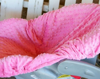baby pink minky infant car seat base cover only