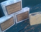 Lemongrass and Poppy Seed cold process soap natural