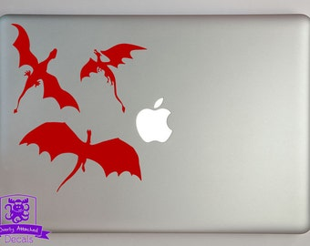 3 Dragons Flying Decal Macbook Laptop