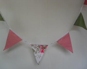 Dusty Pink and Sage Green bunting