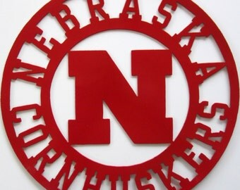 Nebraska Cornhuskers Sign Metal