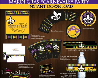 Mardi Gras party printable