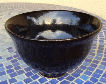 Decorative Ceramic Bowl (Black)