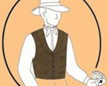 TG229W - 1860-1890 Men's Western Vest Sewing Pattern by Tailor's Guide