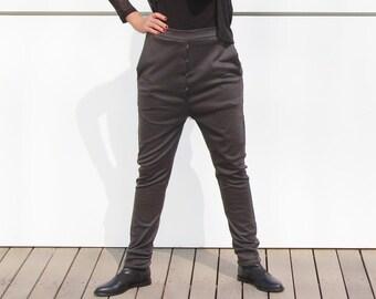 SALE Womens pants - Womens trousers - jersey pants - long pants - black pants - black dress pants