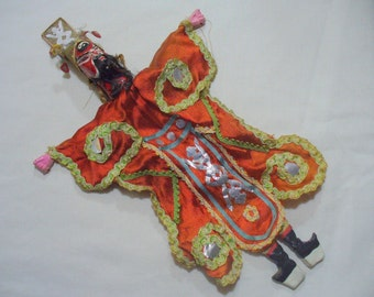 """15"""" Tall Chinese Opera Puppet or Doll Vintage"""