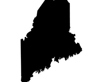 Maine State Vinyl Sticker