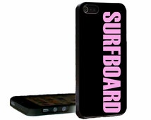 Surfboard Black and  Pink or White and Pink iPhone 4, 4s, 5, 5s, 5c, 6, 6 Plus, Galaxy Case