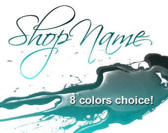 Fashion Modern Ink Banner Avatar Paint Contemporary Drops Colors Choice - Premade Graphic
