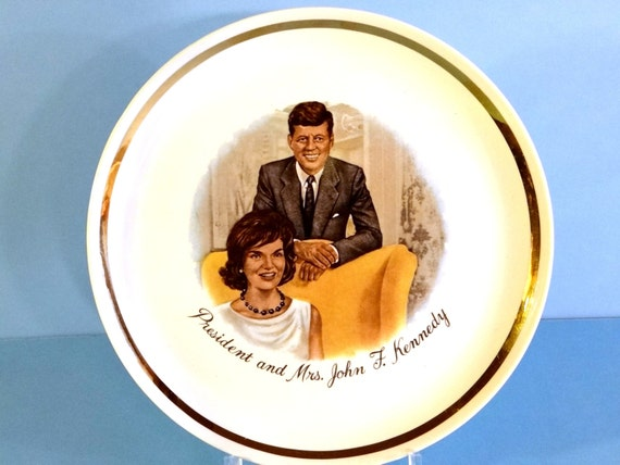 Vintage John F Kennedy And Jackie Collectible Plate Jfk