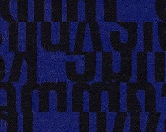 """Gunnar Aagaard Andersen """"Letters"""" Cobalt -  Mid-Century modern design accent Pillow -  17"""" X 17"""" with insert"""