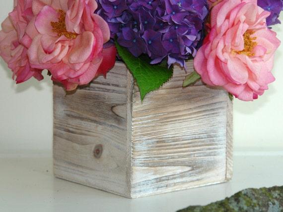 Wood box boxes square vase wedding flower pot